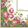 แนวภาพดอกไม้ ช่อดอกไม้หลากชนิดในกรอบ ภาพโทนสีขาว เป็นภาพเต็มแผ่น กระดาษแนพกิ้นสำหรับทำงาน เดคูพาจ Decoupage Paper Napkins ขนาด 33X33cm