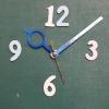 ชุดตัวเครื่องนาฬิกาญื่ปุนเดินเรียบ เข็มลายโมเดิน ขนาดกลาง เข็มสั้น-เข็มยาวสีน้ำเงิน เข็มวินาทีสีทอง อุปกรณ์ DIY