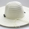 ชิ้นงานเดิบ เส้นใยธรรมชาติ ทำ Decoupage งานเพนท์ หมวกเส้นใยธรรมชาดิทอ ปีกกว้าง