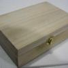 """ชิ้นงานดิบไม้สน ทำ Decoupage งานเพนท์ กล่องไม้สนแบบมีล็อค ทรงสี่เหลี่ยมผืนผ้าขนาดกว้างใหญ่ ใส่ของจิปาถะได้สบาย 6"""" x 9"""" x 3"""""""