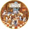 กระดาษสาพิมพ์ลาย rice paper เป็น กระดาษสา สำหรับทำงานศิลปะ เดคูพาจ Decoupage แนวภาพ When there's food around cats can be found ที่ไหนมีอาหาร พบเจอน้องแมวได้ที่นั่น (ปลาดาวดีไซน์)