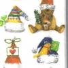 แนวภาพเทศกาล ภาพหมวกคริสมาสต์หลากหลายแบบ ภาพลายกระจายเต็มแผ่น กระดาษแนพคินสำหรับทำงาน เดคูพาจ Decoupage Paper Napkins ขนาด 21X22cm