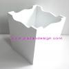ชิ้นงานดิบไม้ MDFทำสีขาวแล้ว ใช้ทำ Decoupage งานเพนท์ ถังผง หรือถังใส่ของอเนกประสงค์ ขนาดกลาง