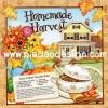 กระดาษสาพิมพ์ลาย สำหรับทำงาน เดคูพาจ Decoupage แนวภาำพ Homemade Harvest กับ สูตรทำบะหมี่ Easy Turkey Noodle Bake สีสด (ปลาดาวดีไซน์)