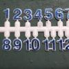 ชุดตัวเลขสำหรับประกอบนาฬิกา สีน้ำเงินขอบขาว ตัวเลขสูง 9มม อุปกรณ์ DIY