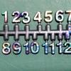 ชุดตัวเลขสำหรับประกอบนาฬิกา สีรุ้งขอบดำ ตัวเลขสูง 9มม อุปกรณ์ DIY
