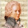 แนวภาพประวัติศาสตร์ ภาพ Mozart ศิลปินดนตรีระดับโลก มีภาพ 2 ชุดในแผ่น กระดาษแนพคินสำหรับทำงาน เดคูพาจ Decoupage Paper Napkins ขนาด 21X22cm