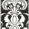 แนวภาพลายแต่ง ภาพลายศิลป์ลายสีขาวบนพื้นดำ ภาพลายกระจายเต็มแผ่น กระดาษแนพคินสำหรับทำงาน เดคูพาจ Decoupage Paper Napkins ขนาด 21X22cm