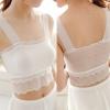 WG013 เสื้อซับในครึ่งตัว ผ้าลูกไม้ ไม่มีฟองน้ำซับใน สวย น่ารัก มี 2 สี ขาว ดำ