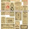 กระดาษสาพิมพ์ลาย rice paper สำหรับทำงานฝีมือ เดคูพาจ Decoupage แนวภาพ ฉลากสินค้าจากยุโรป เป็นสไตล์วินเทจ ปลาดาวดีไซน์
