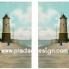 กระดาษเดคูพาจพิมพ์ลาย สำหรับทำงาน เดคูพาจ Decoupage งานฝีมือ งาน Handmade แนวภาพ ประภาคารอันเงียบสงบ ตั้งตระหง่านกลางทะเล (ปลาดาวดีไซน์)