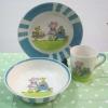 ชุดจาน ชาม แก้ว ลายหมูกับไข่ Easter ลายเส้นสีฟ้า Whittard of Chelsea