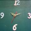 ชุดตัวเครื่องนาฬิกาญื่ปุนเดินเรียบ เข็มลายโมเดิน ขนาดเล็ก เข็มสั้น-เข็มยาวสีทอง เข็มวินาทีสีแดง อุปกรณ์ DIY