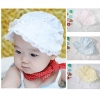BB016 หมวกปีกเด็ก ผ้าลูกไม้ ประดับด้วยโบว์ ด้านหลังมีเชือผูก สวย น่ารัก มีให้เลือก 2 สี ชมพู ขาว