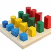 ของเล่นเสริมพัฒนาการ บล็อกแท่งไม้เรขาคณิตเรียงลำดับ