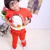 Huanshu kids ชุดเซ็ทเด็ก เสื้อแขนยาวคอกลม + กางเกงขายาว สไตล์เกาหลี ขนาด100,110