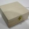 """ชิ้นงานดิบไม้สน ทำ Decoupage งานเพนท์ กล่องไม้สนแบบมีล็อค ทรงจตุรัส ไซด์กลาง 6"""" x 6"""" x 3"""""""