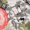 แนวภาพดอกไม้ นก ลายปากกา บนพื้นขาว กระดาษแนพคินสำหรับทำงาน เดคูพาจ Decoupage Paper Napkins เป็นภาพกระจายเต็มแผ่น ขนาด 25X25 ซม