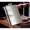 K020N1 กระป๋องใส่เหล้า มี 2 ขนาด 6 ออนซ์ กับ 8 ออนซ์ สแตนเลสอย่างดี กระป๋อง ขวด ใส่เหล้า ใส่เครื่องดื่ม พิมพ์ลายขวาง คลาสิค