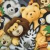 แนวภาพตุ๊กตา เหล่าตุ๊กตาสัตว์ สิงโต หมี ม้าลาย แพนด้า กระดาษแนพกิ้นสำหรับทำงาน เดคูพาจ Decoupage Paper Napkins ภาพกระจายเต็มแผ่น ขนาด 33X33cm
