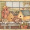 กระดาษสาพิมพ์ลาย สำหรับทำงาน เดคูพาจ Decoupage แนวภาำพ หวานๆซอฟท์ๆ บ้านนกหลายแบบ มีัทั้งแบบบ้านเดี่ยว คอนโด รัง และกองฟาว (ปลาดาวดีไซน์)