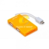 OKER All in 1 Card Reader+USB 2.0 HUB C-1504