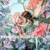 กระดาษสาพิมพ์ลาย สำหรับทำงาน เดคูพาจ Decoupage แนวภาำพ ภาพวาด Fairy Story นางฟ้าพี่สาวดูแลปลอบโยน นางฟ้าน้องน้อยอยู่บนต้นไม้ (ปลาดาวดีไซน์)