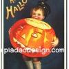 กระดาษเดคูพาจพิมพ์ลาย สำหรับทำงาน เดคูพาจ Decoupage งานฝีมือ งาน Handmade แนวภาพ ภาพวาด วินเทจ vintage หนุ่มน้อยแบกฟักทองไฟลูกยักษ์มาฝาก A Happy Halloween pladao design