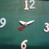 ชุดตัวเครื่องนาฬิกาญื่ปุนเดินเรียบ เข็มลายโมเดิน ขนาดเล็ก เข็มสั้น-เข็มยาวสีเงิน เข็มวินาทีกามเทพสีแดง อุปกรณ์ DIY