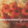 กระดาษสาพิมพ์ลาย สำหรับทำงาน เดคูพาจ Decoupage แนวภาำพ บ้านและสวน ดอกเยียบีร่าสีส้มสดใส เป็นภาพแนวภาพวาดสีฟุ้งๆ (ปลาดาวดีไซน์)