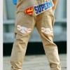 กางเกงเด็ก ตกแต่งกระเป๋าเก๋ๆ เทห์ๆ สไตล์ เกาหลี
