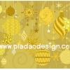 กระดาษสาพิมพ์ลาย rice paper เป็นกระดาษสา สำหรับทำงานฝีมือ เดคูพาจ Decoupage แนวภาพ Golden Christmas (pladao design)