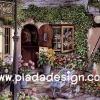 กระดาษสาพิมพ์ลาย สำหรับทำงาน เดคูพาจ Decoupage แนวภาำพ บ้านและสวน จัดแต่งสวนสวยด้วยไม้ดอกไม้ประดับ หน้าร้านขายดอกไม้ (ปลาดาวดีไซน์)