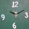 ชุดตัวเครื่องนาฬิกาญื่ปุนเดินเรียบ เข็มลายโมเดิน ขนาดเล็ก เข็มสั้น-เข็มยาวสีดำ เข็มวินาทีสีทอง อุปกรณ์ DIY