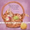 กระดาษสาพิมพ์ลาย สำหรับทำงาน เดคูพาจ Decoupage แนวภาำพ ภาพวาด ลูกแมวสีส้ม นอนหลับตาพริ้ม ในตระกร้าไหมพรม มีคำคมวลีเด็ด (ปลาดาวดีไซน์)