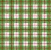 แนวภาพลายแต่ง ตารางสก๊อตสีเขียวแซมขาวตัดด้วยเส้นแดง ภาพโทนสีเขียว เป็นภาพเต็มแผ่น กระดาษแนพกิ้นสำหรับทำงาน เดคูพาจ Decoupage Paper Napkins ขนาด 33X33cm