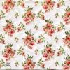 แนวภาพดอกไม้ ช่อดอกกุหลาบช่อเล็ก บนพื้นหลังสีขาว ภาพกระจายเต็มแผ่น กระดาษแนพกิ้นสำหรับทำงาน เดคูพาจ Decoupage Paper Napkins ขนาด 33X33cm