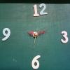 ชุดตัวเครื่องนาฬิกาญื่ปุนเดินเรียบ เข็มลายโมเดิน ขนาดเล็ก เข็มสั้น-เข็มยาวสีแดง เข็มวินาทีสีทอง อุปกรณ์ DIY