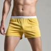 SP0032 กางเกงขาสั้นแนวสปอร์ต : สีเหลืองขาวขอบเหลือง
