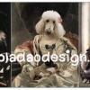 กระดาษเดคูพาจพิมพ์ลาย สำหรับทำงาน เดคูพาจ Decoupage งานฝีมือ งาน Handmade แนวภาพ น้องหมาน้องแมวเหมียวจัดเต็มในชุดแฟนซีแนวเจ้าชายเจ้าหญิง มาทั้ง พุดเดิ้ล อัลเซเฃี่ยน (ปลาดาว ดีไซน์)