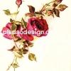 กระดาษสาพิมพ์ลาย สำหรับทำงาน เดคูพาจ Decoupage แนวภาำพ ภาพวาด ดอกกุหลาบสีแดงกำมะหยี่ หลายดอก เป็นภาพแบบวินเทจ vintage (ปลาดาวดีไซน์)