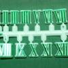 ชุดตัวเลขสำหรับประกอบนาฬิกา เลขโรมัน สีเขียวขอบสีเขียวอ่อน ตัวเลขสูง 10มม. อุปกรณ์ DIY