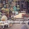 กระดาษเดคูพาจพิมพ์ลาย สำหรับทำงาน เดคูพาจ Decoupage งานฝีมือ งาน Handmade แนวภาพ จัดบ้านและสวน เก้าอี้ในสวนหน้าบ้าน ภาพแนวตั้ง ปลาดาว ดีไซน์
