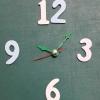 ชุดตัวเครื่องนาฬิกาญื่ปุนเดินเรียบ เข็มลายโมเดิน ขนาดเล็ก เข็มสั้น-เข็มยาวสีเขียว เข็มวินาทีสีแดง อุปกรณ์ DIY