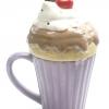 แก้วกาแฟ+ฝาครอบทรงไอศกรีม ถ้วยสีม่วง Windhorse Design