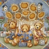 กระดาษสาพิมพ์ลาย rice paper สำหรับทำงาน handmade เดคูพาจ Decoupage แนวภาพ หมี เท็ดดี้ แบร์ Teddy bear ทุ่งดอกทานตะวัน (pladao design)