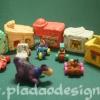 1994 McDonald's แมคโดนัลด์ ของเล่น ของสะสม Happy Meal The Flintstones บ้านพร้อมรถ + Dino Under 3 อยู่นอกแพ็คค่ะ