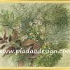 กระดาษสาพิมพ์ลาย สำหรับทำงาน เดคูพาจ Decoupage แนวภาำพ ภาพวาด ปลูกต้นไม้ สไตล์ป่า เขียวขจีและร่มรื่น (ปลาดาวดีไซน์)
