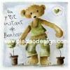 กระดาษเดคูพาจพิมพ์ลาย สำหรับทำงาน เดคูพาจ Decoupage งานฝีมือ งาน Handmade แนวภาพ น้องหมีหัวใจสีเขียว เท็ดดี้ แบร์ teddy bear นักอนุรักษ์ป่าไม้ เร่งปลูกต้นไม้ (ปลาดาว ดีไซน์)