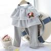 กางเกงเกระโปรงเด็ก 2 ชั้น สีเทา น่ารัก สไตล์เกาหลี ผ้าหนา (สำหรับเด็กอายุ 6 เดือน-4 ขวบ)